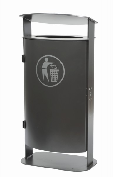 Abfallbehälter Java - mit Müllsackhalter