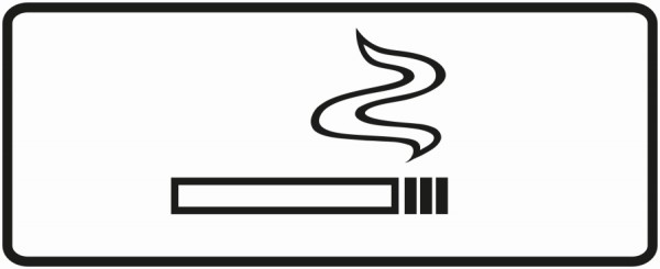 Aufkleber Zigarette