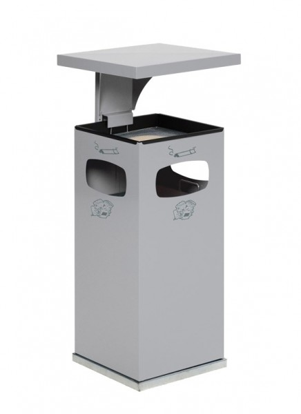 Abfallbehälter mit Schutzdach
