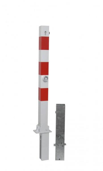 Absperrpfosten 70 x 70 mm - umlegbar und herausnehmbar