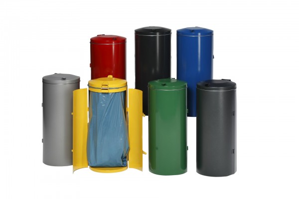 Abfallbehälter Kompakt-Doppeltür - Inh. 150 Liter