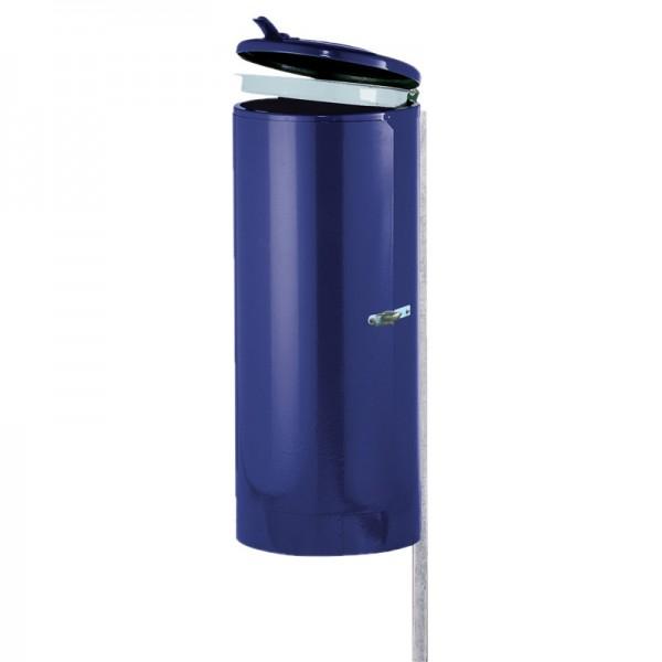 Abfallsammler Universal mit Standpfosten und Spannverschluss